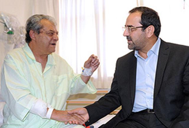 وزیر ورزش و جوانان از سرطلایی فوتبال ایران عیادت کرد
