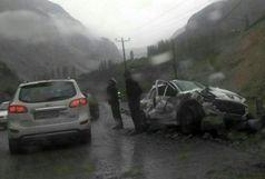 یک کشته در اثر ریزش کوه در جاده سوادکوه