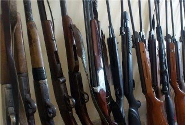 کشف و ضبط تفنگهای شکاری غیر مجاز در گیلان