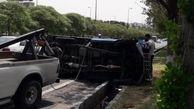 خستگی  و خواب آلودگی راننده نیسان حادثه ساز شد