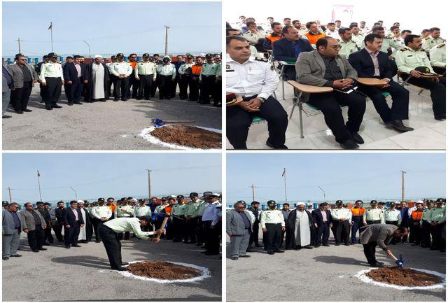 با حضور مسئولین استانی انجام گرفت؛ کلنگزنی ساختمان قرارگاه پلیسراه استان ایلام