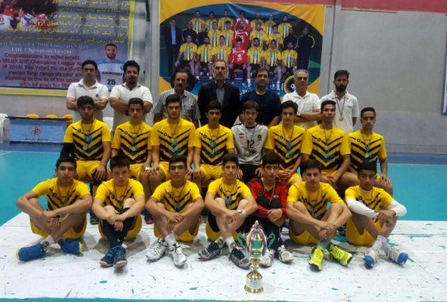 قهرمانی سپاهان در مسابقات هندبال پسران منطقه 5 کشور