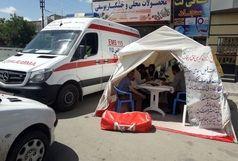 استقرار آمبولانس برای کنترل فشار خون مردم جاجرم و فاروج