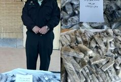 کشف محموله ۸۱ کیلویی مواد مخدر توسط نیروی انتظامی شهرستان امیدیه