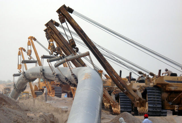 ساخت خط انتقال گاز بیدبلند - اهواز تداوم دارد