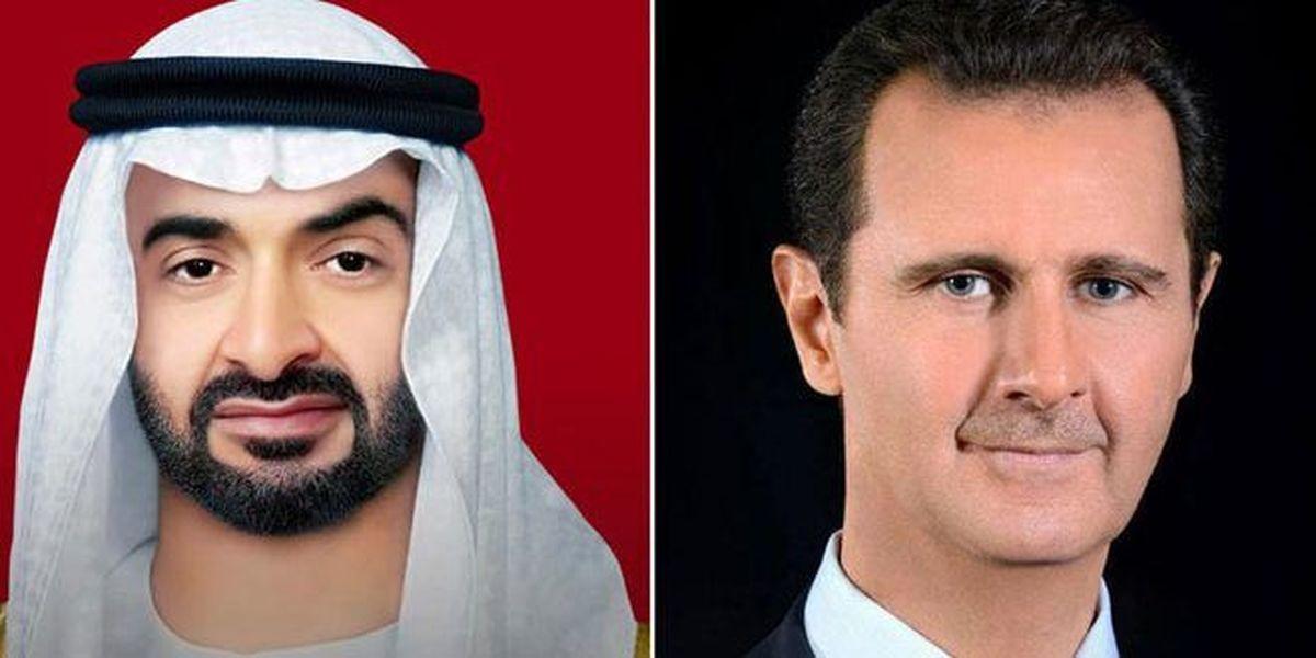 گفت وگوی اسد و بن زاید درباره روابط سوریه و امارت