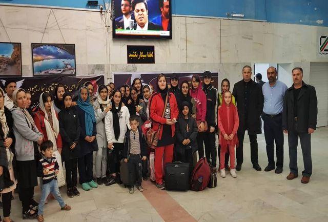اعزام بانوان شوتوکان منطقه آزاد قشم به مسابقات بین المللی تهران