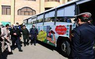 بازدید رئیس پلیس راهور ناجا از اتوبوس فرهنگی سازمان حمل و نقل و ترافیک شهرداری قم