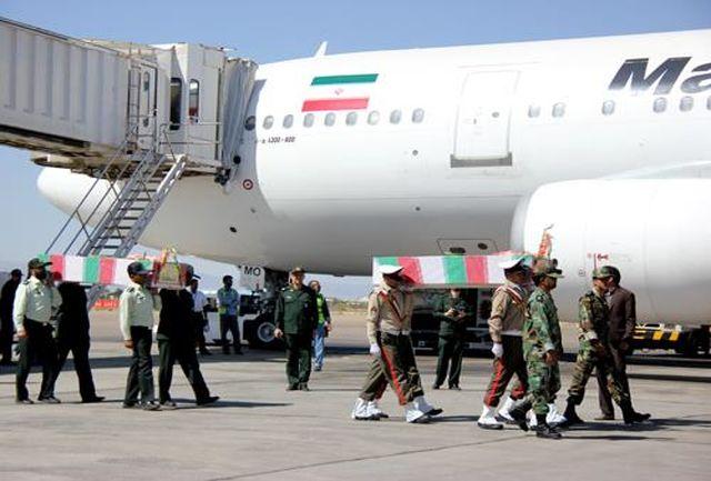 ورود پیکر شهدای گمنام دوران دفاع مقدس به استان کرمان