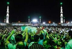 مراسم وداع با پیکر شهید «عُشریه» شهید مدافع حرم و خادم جمکران برگزار شد