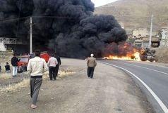 واژگونی تریلی در یکی از جادههای کردستان