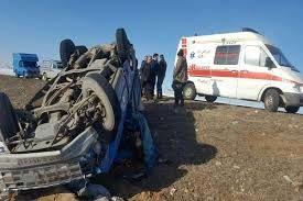 واژگونی مرگبار خودرو باری با ۲ کشته و مصدوم در مسیر اروندکنار-آبادان