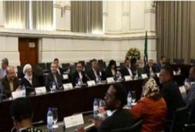 رییس مجلس بر توسعه روابط دوکشور ایران و آفریقای جنوبی تاکید کرد