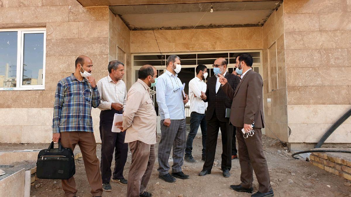 نماینده مردم قزوین از ساختمان در دست احداث سپاه شهرستان البرز بازدید کرد