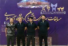 نایب قهرمانی پینگ پنگ بازان دانشگاه آزاد قزوین