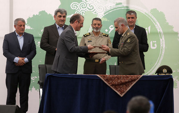 آیین آغاز عملیات احداث بوستان بزرگ ارتش