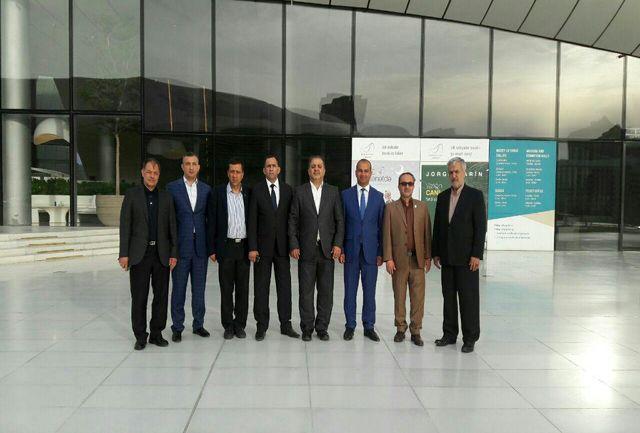 مذاکرات دوجانبه مسئولین اجرایی و حوزه ورزش و جوانان باکو و آذربایجان غربی