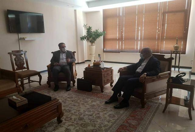 دیدار معاون اقتصادی استاندار ایلام با دبیر شورای عالی مناطق ازاد کشور