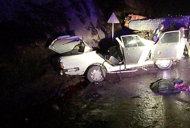"""2 کشته و یک مجروح در  تصادف محور """"رودبار به منجیل"""""""