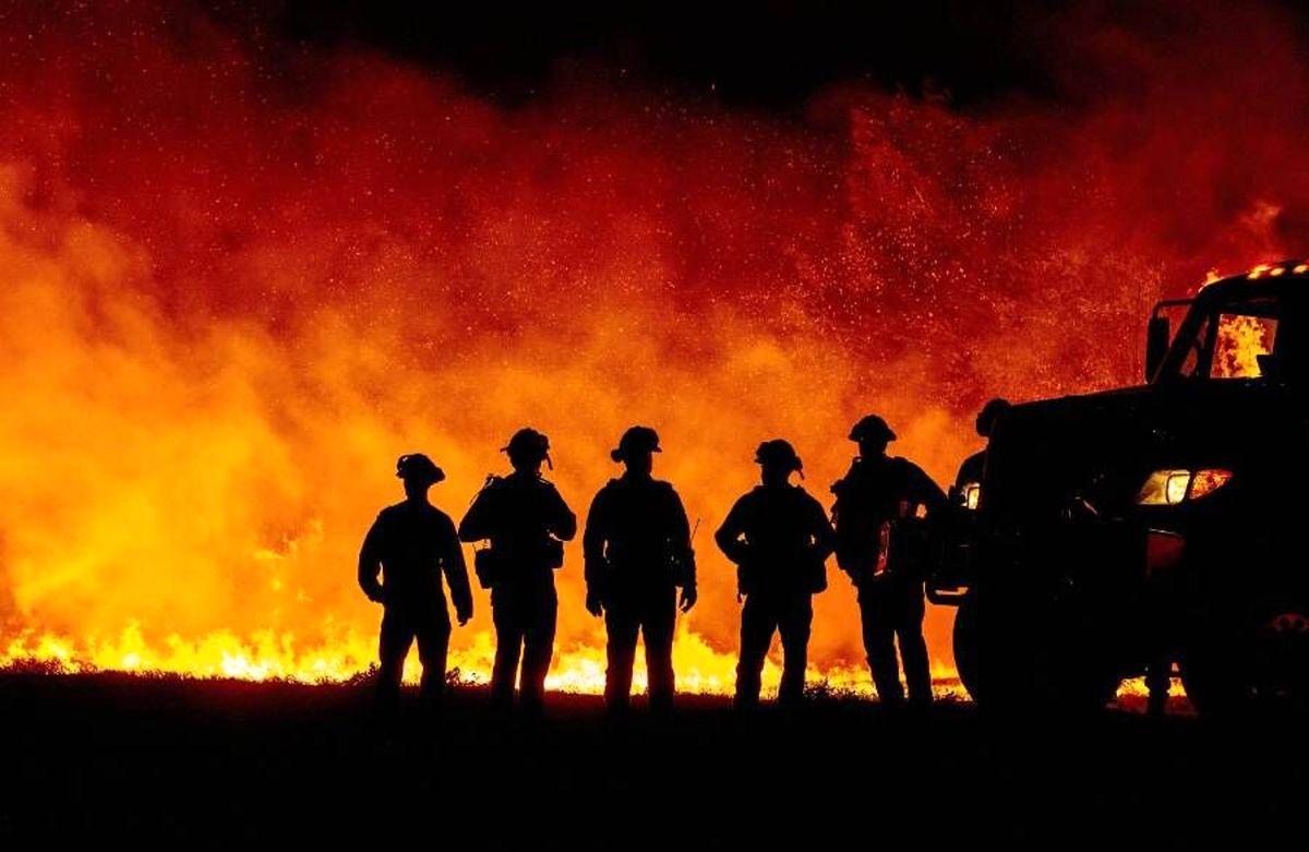 گرما باعث آتش سوزی و آتش سوزی باعث تخلیه منازل شد