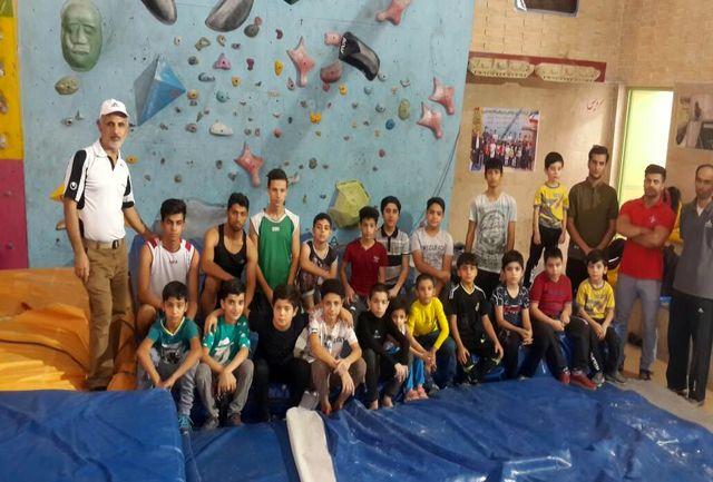 برگزاری مسابقات سنگنوردی ویژه جام رمضان در شهرستان امیدیه