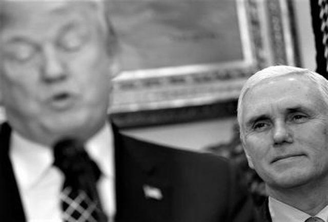 اقدام جنجالی پنس پس از اظهارات ترامپ