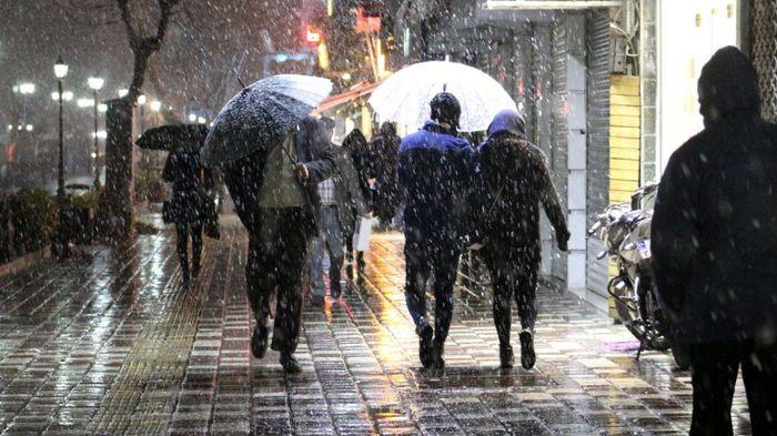بارش برف و باران در ۱۰ شهرستان خراسان رضوی