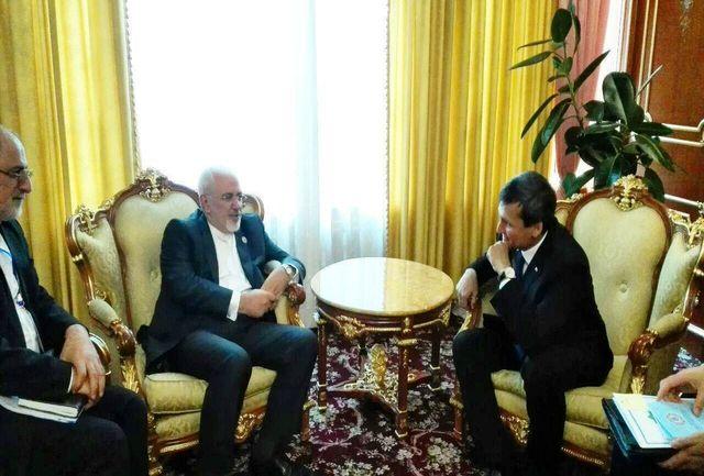 ظریف با همتای تاجیکستانی خود دیدار و گفتگو کرد