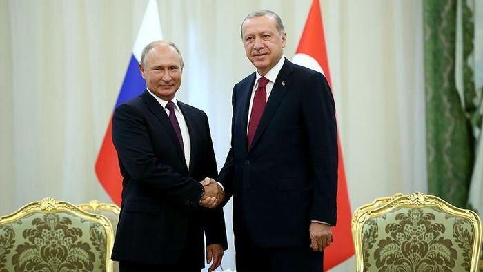 پوتین با اردوغان گفتگو کرد