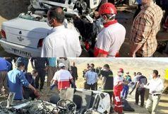 برخورد پراید با تریلی در محور روستایی مراد آباد تویسرکان 6 کشته برجای گذاشت
