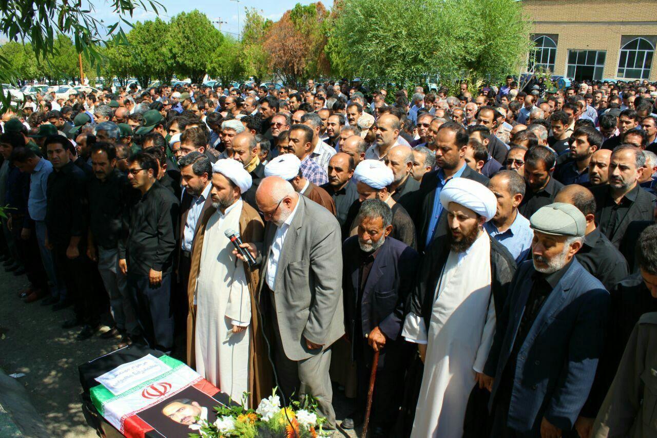 تشییع پیکر رئیس شورای اسلامی شهر خوی