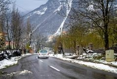 بارش برف و باران در محورهای مواصلاتی 10 استان کشور