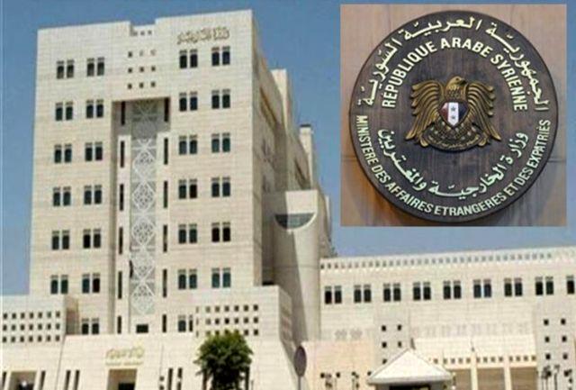 سوریه درباره اقدامات تنشزا و محرک آمریکا در خلیج فارس هشدار داد