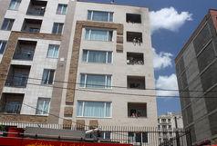 آتش سوزی ساختمان مسکونی 6طبقه در پونک مهار شد