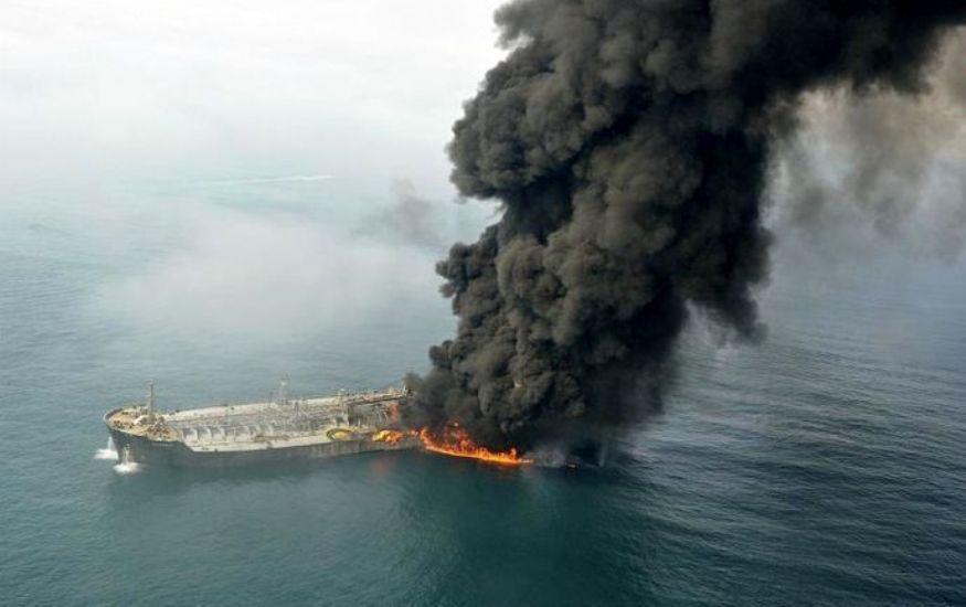 ارایه گزارش نهایی علت آتش سوزی نفتکش سانچی