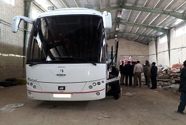 توقیف اتوبوس حامل یک باک اضافه در یزد