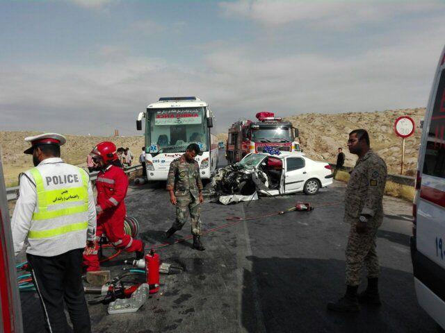 9 کشته و زخمی در تصادف رخ به رخ 206 و مزدا!