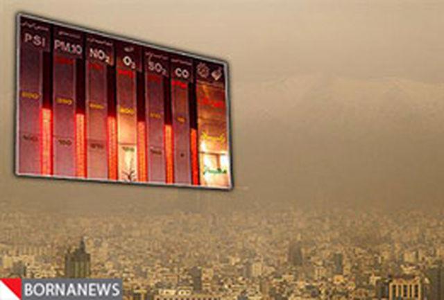 وضعیت هوای پایتخت ناسالم است