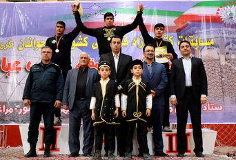 مازندران قهرمان رقابت های کشتی آزاد نوجوانان