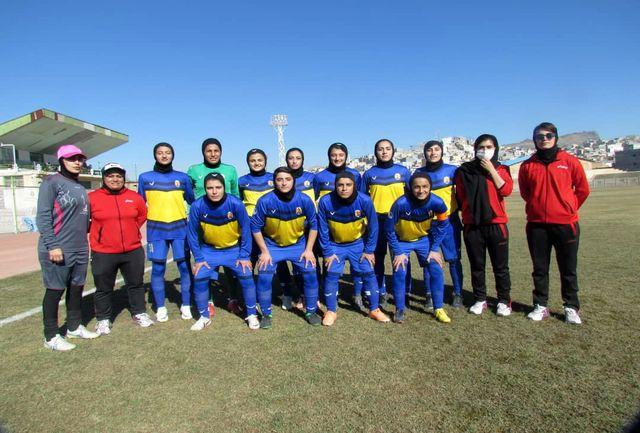 دیدار دو تیم فوتبال بانوان پالایش گاز ایلام و وچان کردستان مساوی شد+گزارش تصویری
