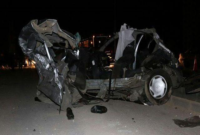 نقص فنی کامیون، خودروهای خیابان ولنجک تهران را نابود کرد