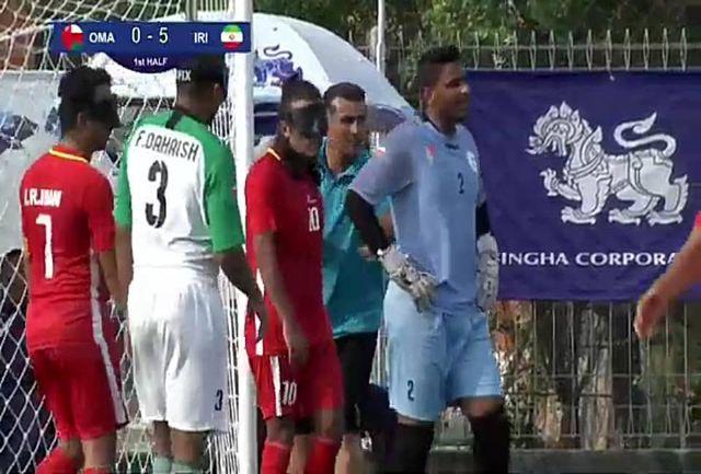 تیم ملی فوتبال نابینایان مقابل عمان به برتری رسید