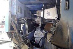 واژگونی مینی بوس در قزوین یک کشته و 2 مجروح برجای گذاشت