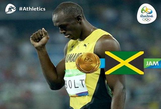 بولت قهرمان دوی 100 متر المپیک ریو شد