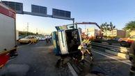 آخرین خبرها از سانحه واژگونی مینی بوس/انتقال 18 نفر از مصدومین به بیمارستان
