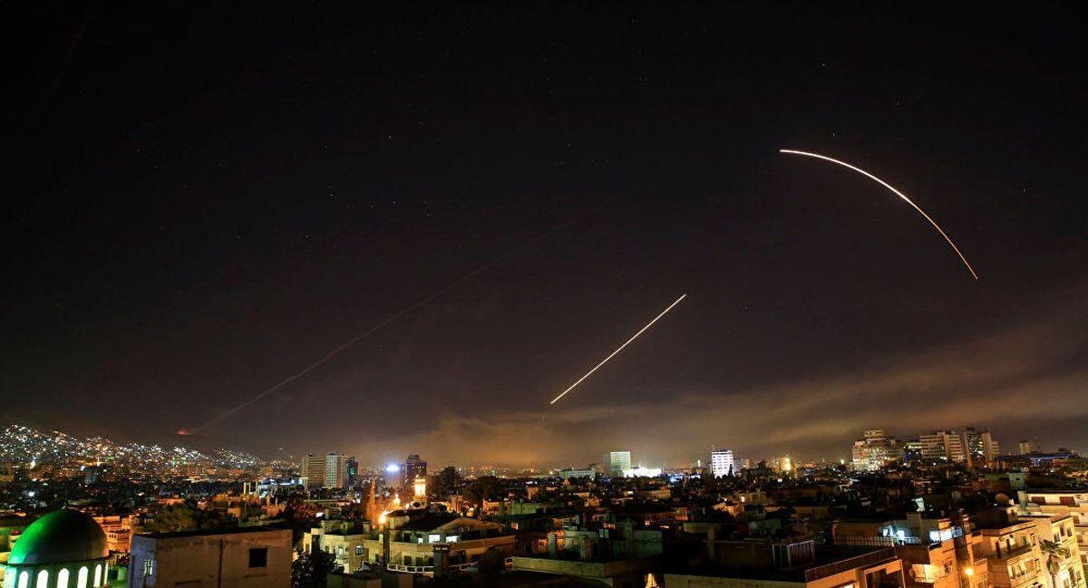 مقابله پدافند هوایی ارتش سوریه با اهداف متخاصم