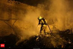 آتش سوزی گسترده در تهران