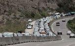 ترافیک سنگین  در آزادراه قزوین - رشت