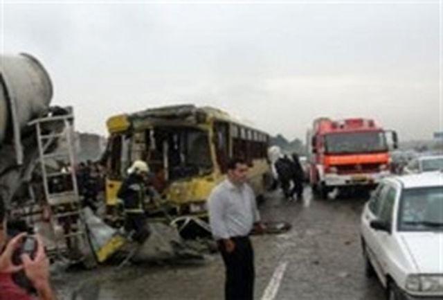 تصادف مرگبار در بزرگراه آزادگان تهران+عکس