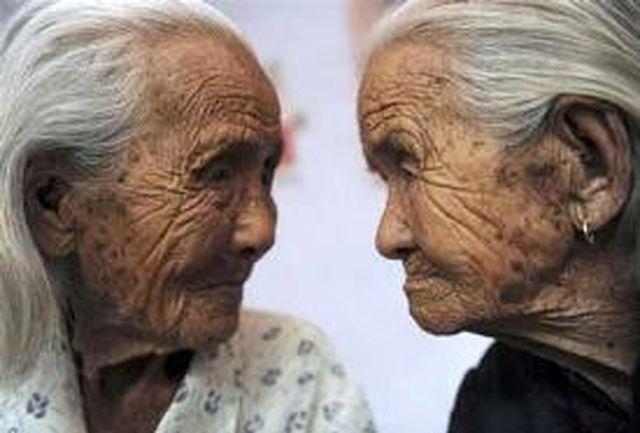 عکس دوقلوهایی که 105 ساله شدند!